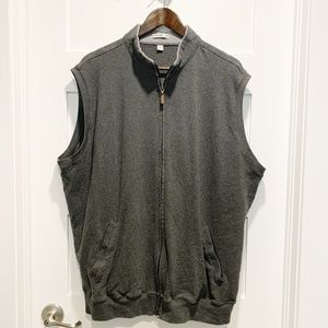 Peter Millar XXL Gray Full Zip Vest